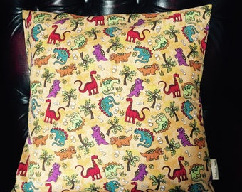 DINOSAUR CUSHION COVER [Yellow]