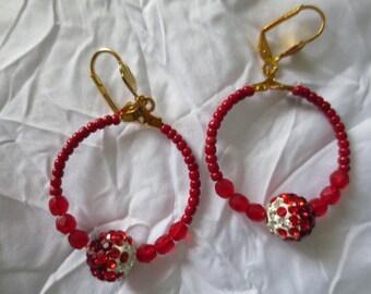 Earrings rings: Red Elodie