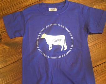 Violet Cowtown Youth T-Shirt