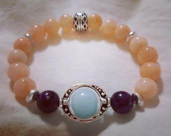 Boho womens stretch bracelet