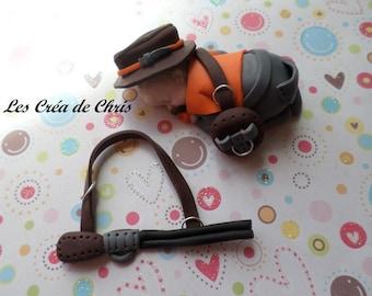 "baby boy theme ""Hunter"" polymer clay."