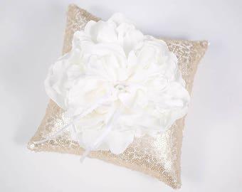Ring Bearer Pillow | Ring Pillow | Peony Ring Pillow