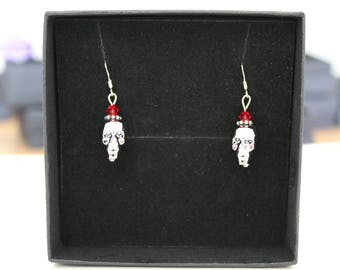 "Earrings ""Silver Skull"""