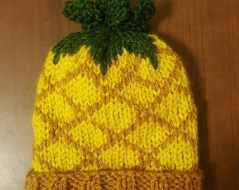 Pineapple Knit Hat (All Ages)
