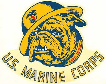 Vintage Style US Marine Corps  Travel Decal sticker