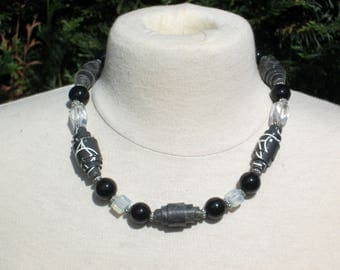 """Choker black and white collection """"argentik"""""""