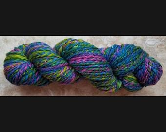 Merino Wool/Silk Fractal Handspun 2-Ply Yarn
