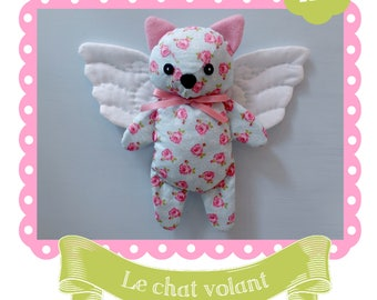 Flying cat doll sewing kit