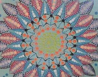 Handmade Dot Art Mandala
