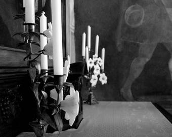 """Photography black and white: """"Adjusted Chandeliers"""" - Saint-Emilion, FRANCE - 2011"""