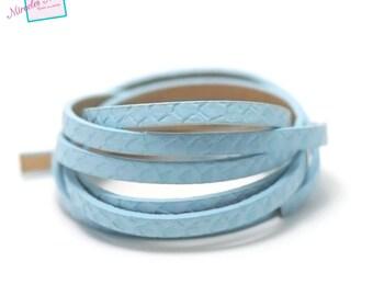 "1.15 m strip of split leather 5 x 2 mm ""scale Super"", blue"