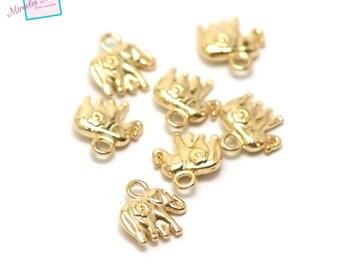 "20 charms ""elephant"" 12 x 11 x 4 mm gold 006"