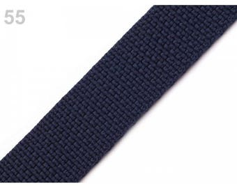 Navy nylon strap 30 mm 1 meter