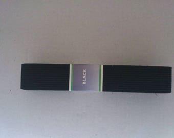 2 m 50 2 cm wide black elastic