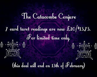 7 card tarot readings (low price for limited time only)
