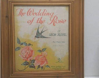 The Wedding of a Rose (1936). Recycled Sheet Music Art/ Print (FREE POSTAGE)