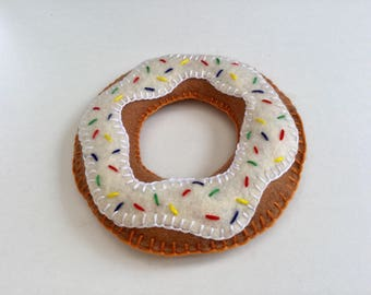 Handmade felt donut coaster