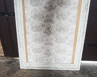 Great old painted wood frame white patina