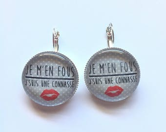 "Earrings ""hell, I'm a bitch"" personalized, fun, humor"