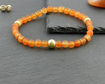 Elastic bracelet from frosted carnelian | | Ladies