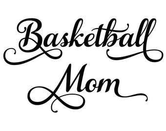 Basketball mom svg, T-shirt iron on designs, Sports svg, Basketball svg, Cut files for Silhouette, Files for Cricut, Basketball clipart