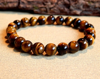 Human grade Tiger eye stones bracelet