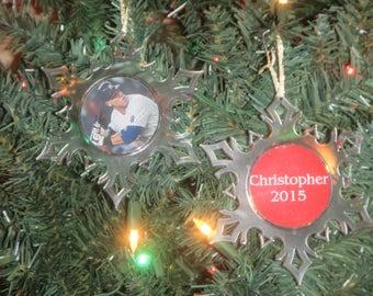 Aaron Judge Yankees Personalized Acrylic SnowFlake Ornament *Free Personalization*