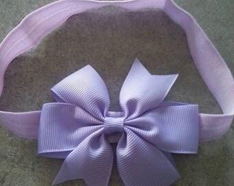 baby girl headband model lilac bow