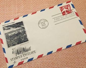 1960 Original vintage envelope for crafting