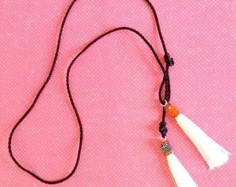 """Necklace beads and tassels / """"Acapulco"""""""