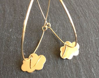 Earrings Creole Golden cloud