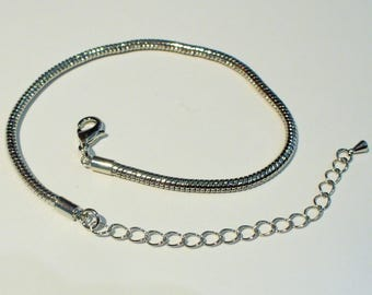 1 bracelet with silver Metal support extension AC367 19cm