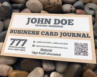 Business Cards - 18pt Kraft Uncoated - 100 quantity (your design)
