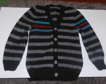 child vest knitted by hand