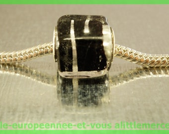 European glass bead cube HQ1 for bracelet necklace charms