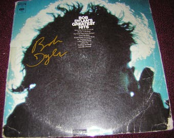 Bob Dylan Signed LP Greatests Hits