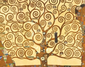 ORIGINAL design, durable and WASHABLE PLACEMAT - Gustav Klimt - the tree of life - classic.