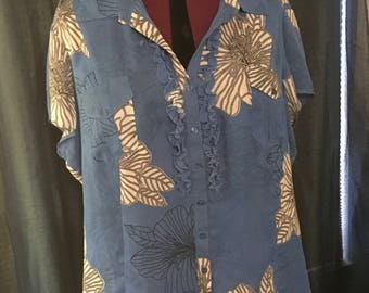 1980's plus size sheer blouse