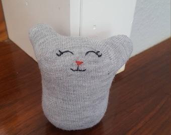 Cute Gray Sock Doll