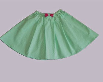 """Skirt cotton girl """"Green tenderness""""."""
