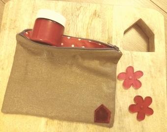 Wallet all bronze and Red Velvet