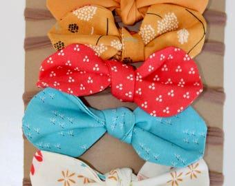 Baby Headband, Bow Headband Set, Nylon Headbands, Baby Bow Headbands, Fabric Hair Bows