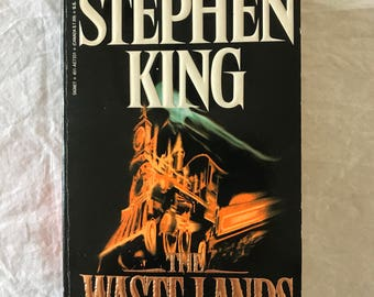 Stephen King, 'The Waste Lands: Dark Tower III', First edition, First printing, paperback, Beautiful condition!