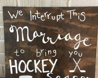 We Interrupt this Marriage...