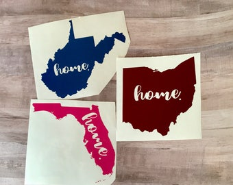 Home State Vinyl Decal!  Car and Electronic Decal~Yeti Decal~Window Decal~Home State~Roots State Decal