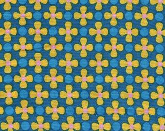 Coupons popeline de coton Trèfles jaunes 10x140cm (ref cou07)