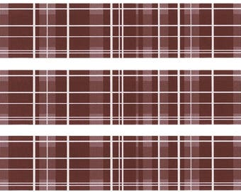 Brown Plaid Cake topper strips