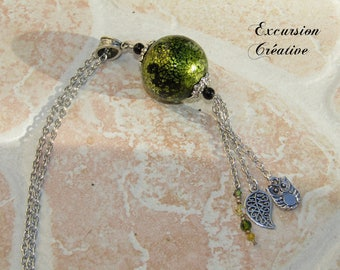 """Necklace handmade polymer clay """"ball"""""""