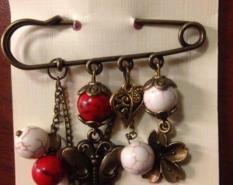 Pin brooch
