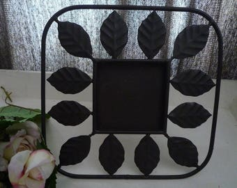 Black metal with leaves frame